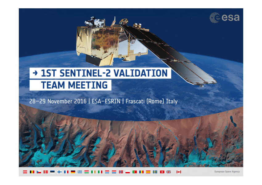 EOLAB At The 1st Sentinel-2 Validation Team Meeting
